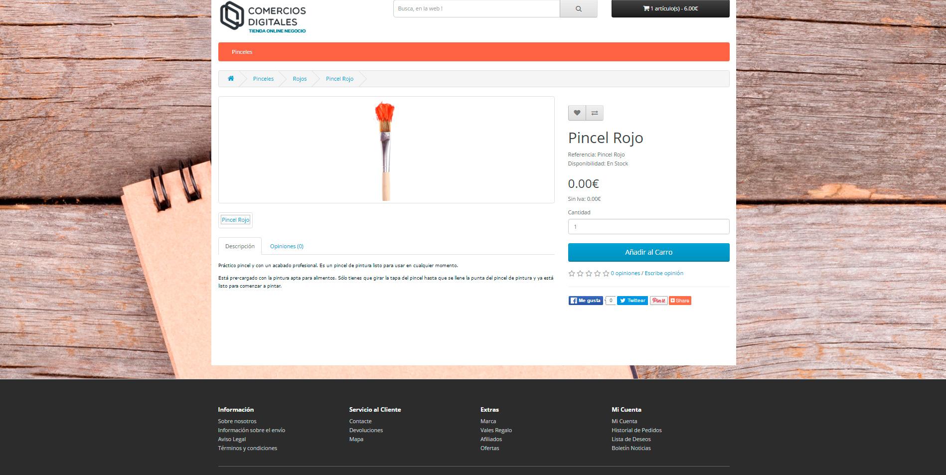 ejemplo tienda online negocio 1